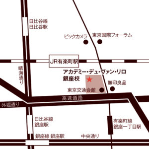 アカデミー・デュ・ヴァン銀座校地図
