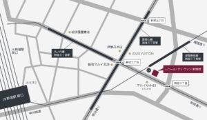 レコール・デュ・ヴァン新宿校地図