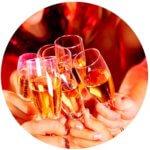 ワイン会で乾杯
